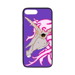 "Unicorn Skull Purple Rubber Case for iPhone 7 plus (5.5"")"