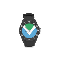 Vegan Flag Sport Rubber Strap Watch(Model 301)