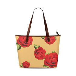 Fairlings Delight's Floral Luxury Collection- Red Rose Handbag 53086h1a19 Shoulder Tote Bag (Model 1646)