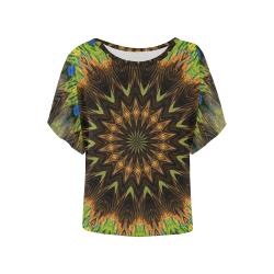 AFRA Women's Batwing-Sleeved Blouse T shirt (Model T44)