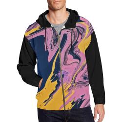 YBP All Over Print Full Zip Hoodie for Men (Model H14)