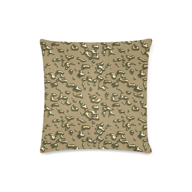 """golden drops Custom Zippered Pillow Case 16""""x16""""(Twin Sides)"""