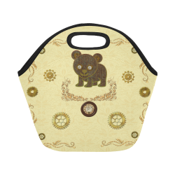 Awesome Steampunk Teddybear Neoprene Lunch Bag/Small (Model 1669)