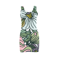 floral Medea Vest Dress (Model D06)