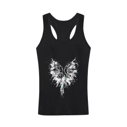 Phoenix - Abstract Painting Bird White 1 Men's I-shaped Tank Top (Model T32)