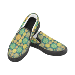 zappwaits 04 - Good afternoon! Women's Slip-on Canvas Shoes (Model 019)