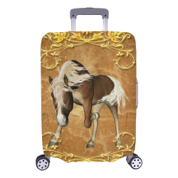 "Wonderful brown horse Luggage Cover/Large 26""-28"""