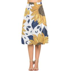 Sunflowers Aoede Crepe Skirt (Model D16)