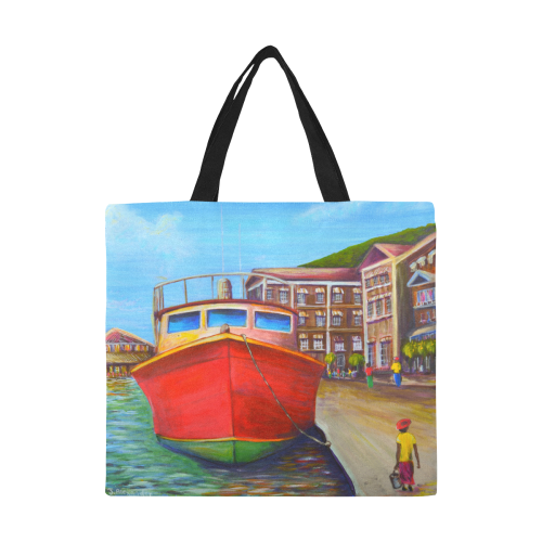 manusartgnd All Over Print Canvas Tote Bag/Large (Model 1699)
