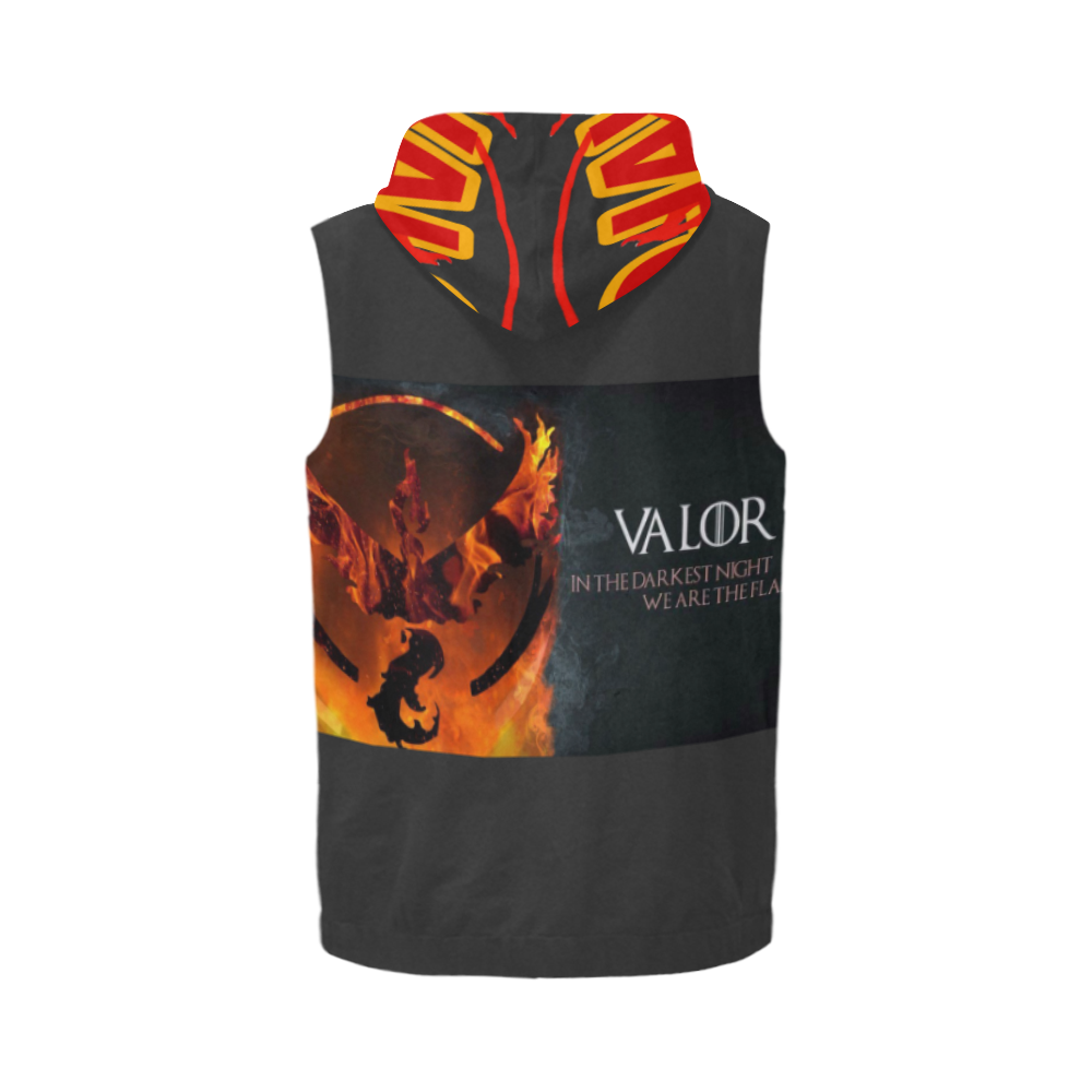 Valor 88 All Over Print Sleeveless Zip Up Hoodie for Men (Model H16)