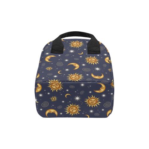 Vintage Celestial Pattern Zipper Lunch Bag (Model 1689)