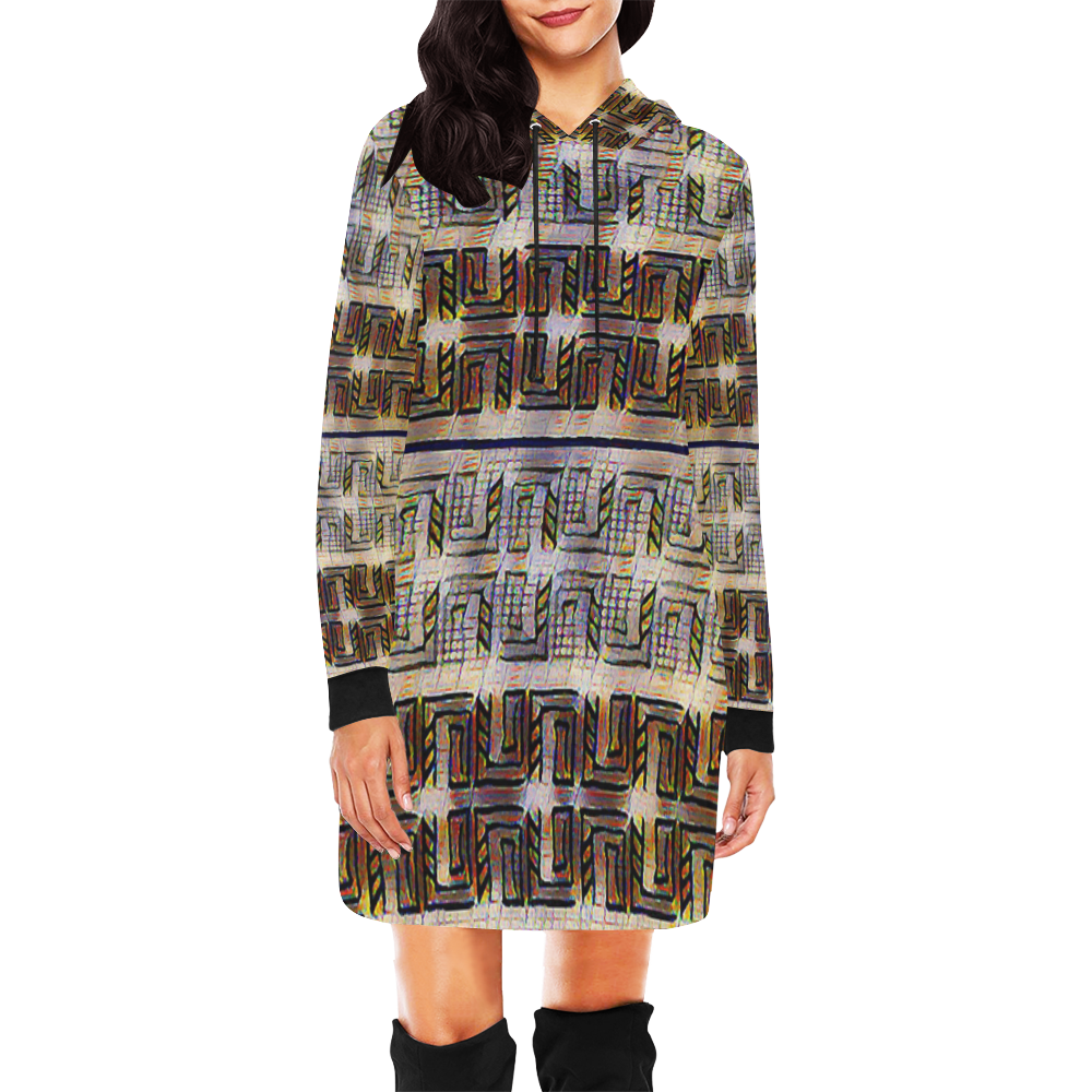 Canals2 All Over Print Hoodie Mini Dress (Model H27)