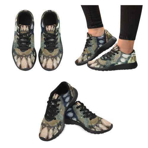 Awesome scary skull Men's Running Shoes (Model 020)