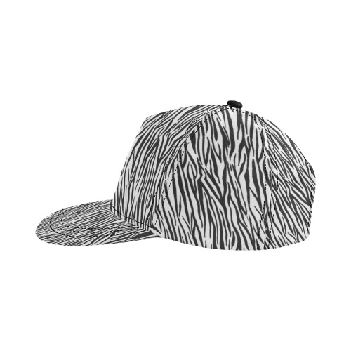 Zebra Pattern All Over Print Snapback Hat D
