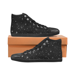 Stars in the Universe Women's High Top Canvas Shoes (Model 002)