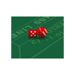 "Las Vegas Dice on Craps Table Poster 20""x16"""