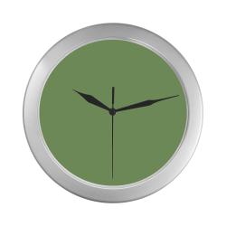 color asparagus Silver Color Wall Clock