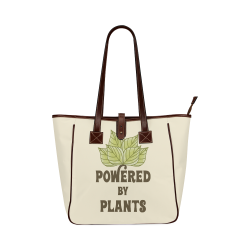 Powered by Plants (vegan) Classic Tote Bag (Model 1644)