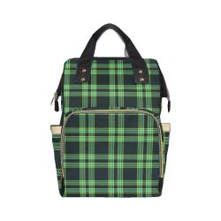 stripes sea green Multi-Function Diaper Backpack/Diaper Bag (Model 1688)