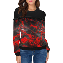 wheelVibe_vibe3 Women's Fringe Detail Sweatshirt (Model H28)