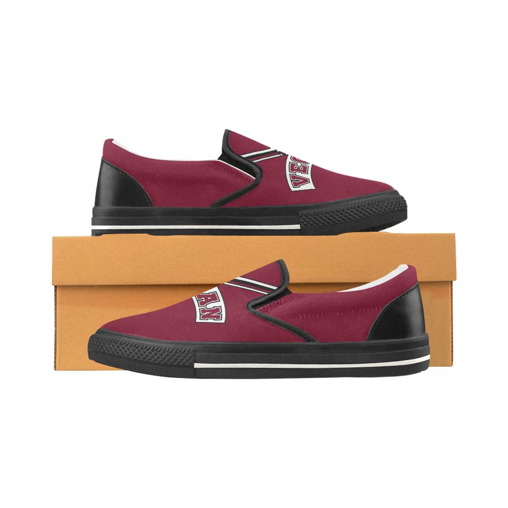 Vegan Cheerleader Women's Unusual Slip-on Canvas Shoes (Model 019)
