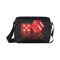 Las Vegas Craps Dice on Black Classic Cross-body Nylon Bags (Model 1632)