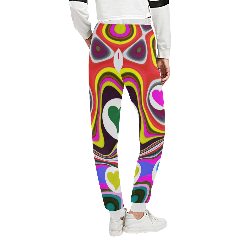 DESIGN B127 Women's All Over Print Sweatpants (Model L11)
