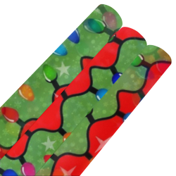 """Christmas Lights 2 by Nico Bielow Gift Wrapping Paper 58""""x 23"""" (3 Rolls)"""