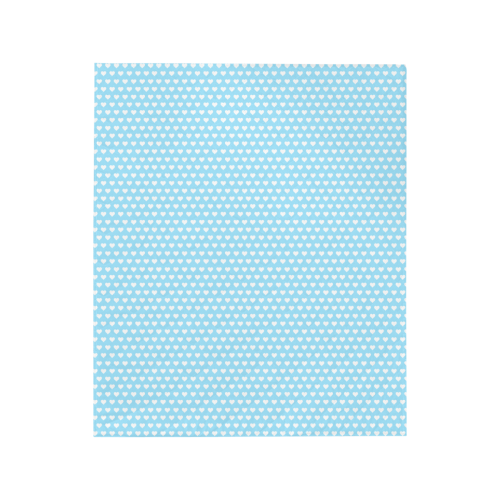 """Baby Blue Hearts Quilt 50""""x60"""""""