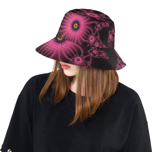 Fuchsia Flower Bloom All Over Print Bucket Hat
