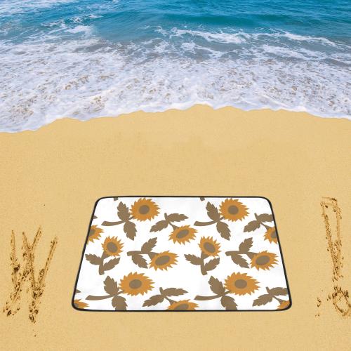 "Fantasy flowers Beach Mat 78""x 60"""