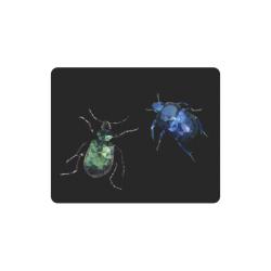Low poly geometric bugs Rectangle Mousepad
