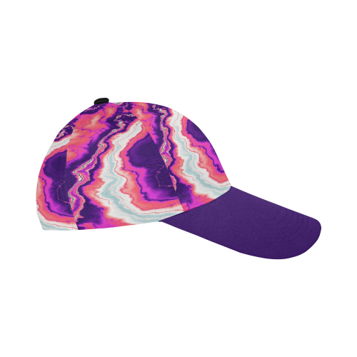 Pink and Purple Geode All Over Print Baseball Cap B