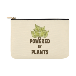 Powered by Plants (vegan) Carry-All Pouch 12.5''x8.5''