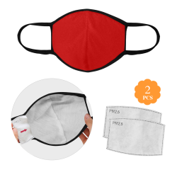 Red 3D Mouth Mask (2 Filters Included) (Model M03) (Non-medical Products)