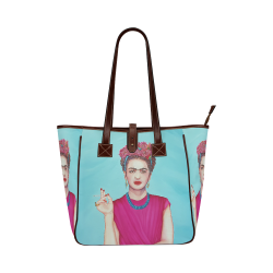 FRIDA IN THE PINK Classic Tote Bag (Model 1644)