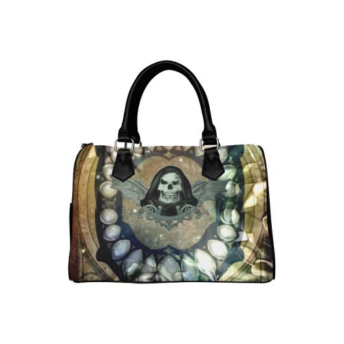 Awesome scary skull Boston Handbag (Model 1621)