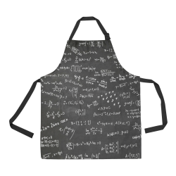 Mathematics Formulas Equations Numbers All Over Print Apron