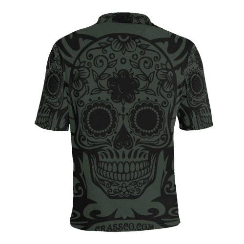 SKULL TRIBAL LUXURY POLO V Men's All Over Print Polo Shirt (Model T55)