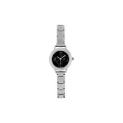 Roman Numeral Black Faced Women's Italian Charm Watch(Model 107)