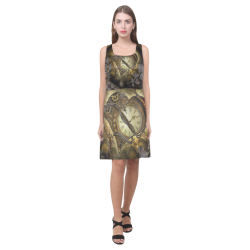Awesome steampunk heart Hebe Casual Sundress (Model D11)