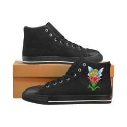 Pixie in a flower ss Men's Classic High Top Canvas Shoes /Large Size (Model 017)