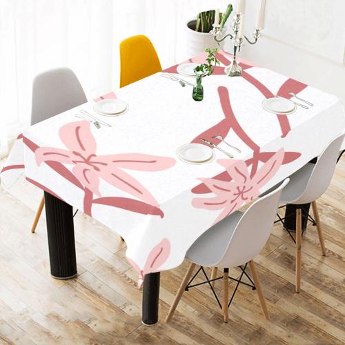 "Fantasy flowers Cotton Linen Tablecloth 60""x 84"""