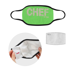 Chef pink and green mask Mouth Mask (2 Filters Included)