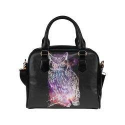 Cosmic Owl - Galaxy - Hipster Shoulder Handbag (Model 1634)