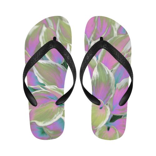 leafs_abstract 07 Flip Flops for Men/Women (Model 040)