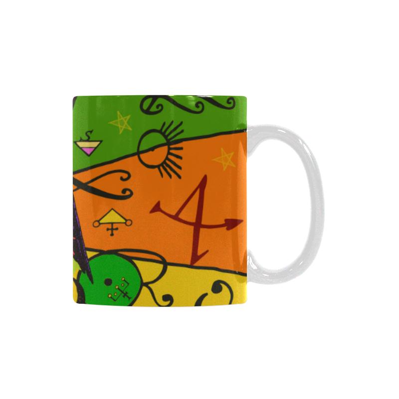 Awesome Baphomet Popart White Mug(11OZ)