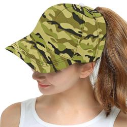 Green Camo AOP Dad Cap All Over Print Snapback Hat D