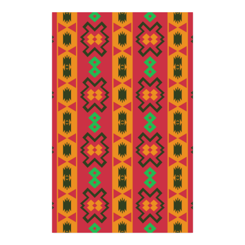 """Tribal shapes in retro colors (2) Poster 23""""x36"""""""