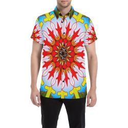 Bang mandala Men's All Over Print Short Sleeve Shirt (Model T53)